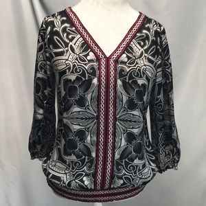 WHBM Flowy blouse size 8